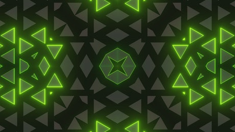 Geometric shapes and moving patterns