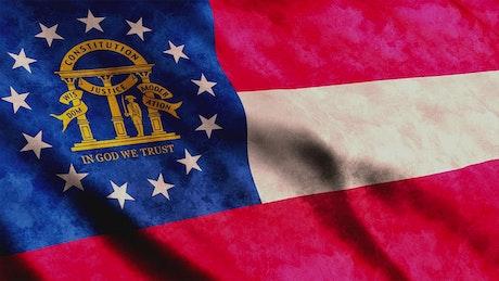Georgia flag, close up