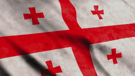 Georgia State of USA, 3D flag