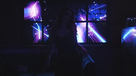 Girl dancing in nightclub