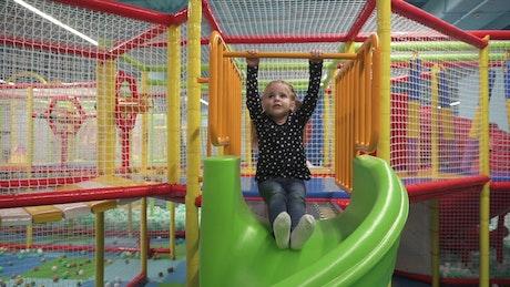 Girl enjoying a day at a play park