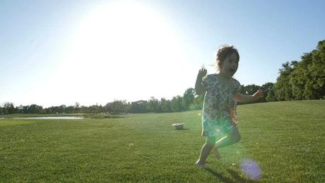 Girl enjoying a summer day