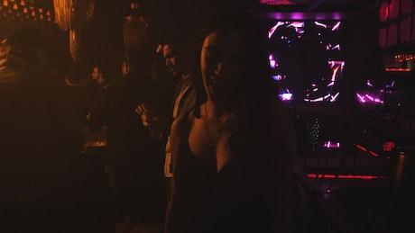 Girl having fun at a nightclub