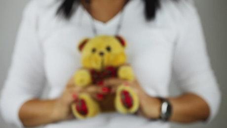 Giving away a teddy bear
