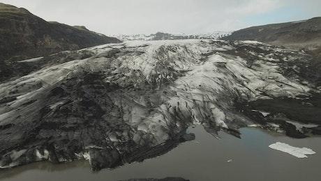 Glacier leading into the ocean