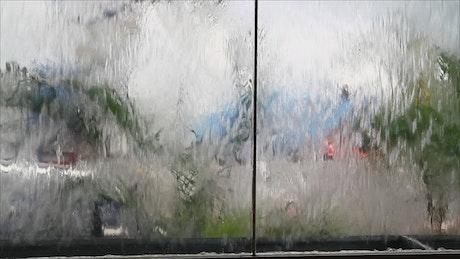 Glass water fountain