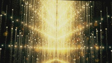 Glitter gold lights rising, 3D