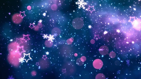Glitter stars and snowflakes