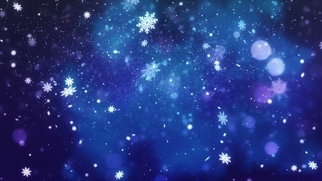 Glitters falling with Christmas or winter concept