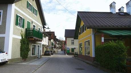 Going through a small town street