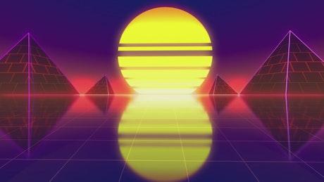 Going toward the sun on a cyberpunk world
