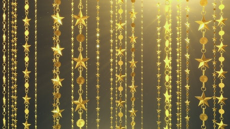 Gold Christmas Star Hanging Chains