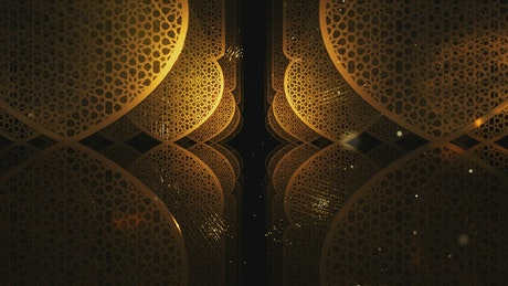 Gold Ramadan Kareem pattern forms, title video