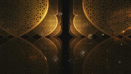 Gold Ramadan Kareem pattern forms, title video