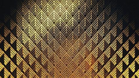 Golden award wall, 3D render