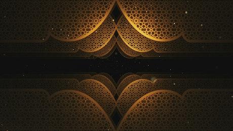 Golden figures with Ramadan Kareem style, 3D