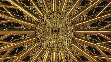 Golden Islamic Geometric Art Concept