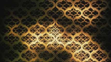 Golden plates formed by a pattern of 3D figures