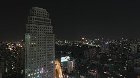 Golden road through Bangkok