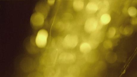 Golden sparkles falling