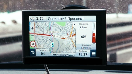 GPS on a car window