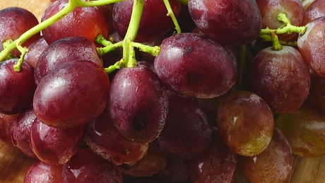 Grapes texture in its bunch