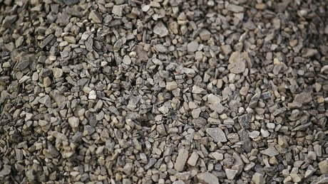 Gravel for construction, texture video