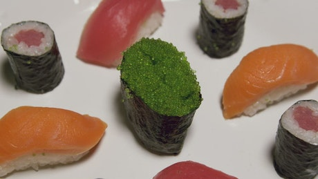 Green Caviar and Sushi