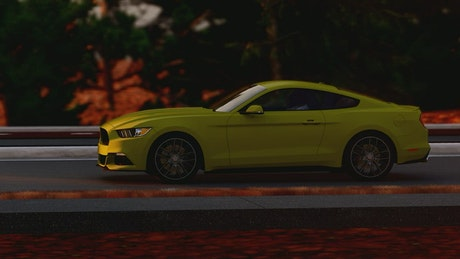 Green luxury sports car, 3D render