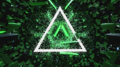 Green triangular cyberpunk universe
