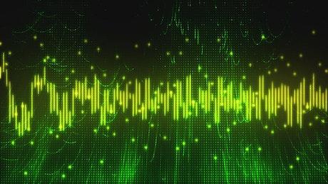 Green virtual musical waveform
