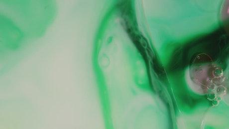 Greenish fluid motion background