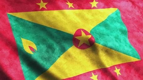 Grenada 3D render flag