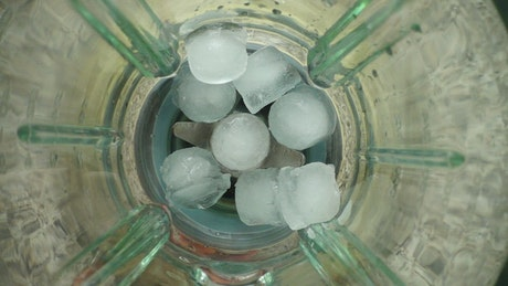 Grinding ice in the blender