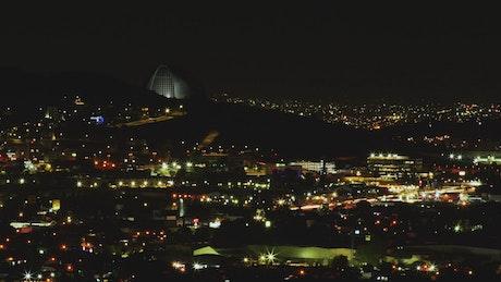 Guadalajara city lights at night