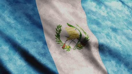 Guatemala flag from America continent, 3D flag