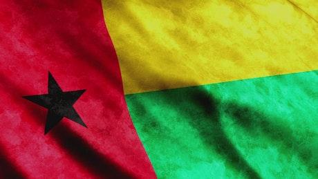 Guinea Bissau 3D waving flag