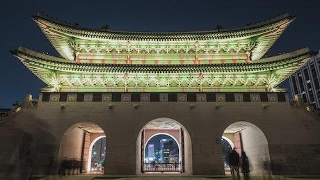 Gwanghwamun gate in Korea