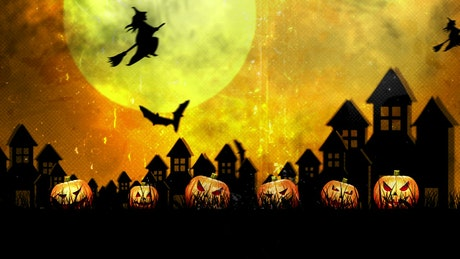 Halloween atmosphere, animation