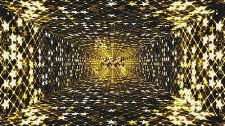 Hallway of twinkling stars