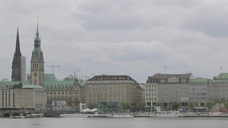Hamburg on an overcast day