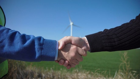 Handshake against wind turbines