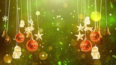 Hanging Christmas Balls and Figures