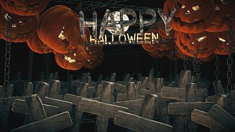Happy Halloween 3D animation