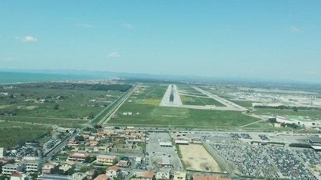 Hard landing at an airport