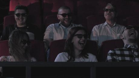 Having fun in a 4D cinema
