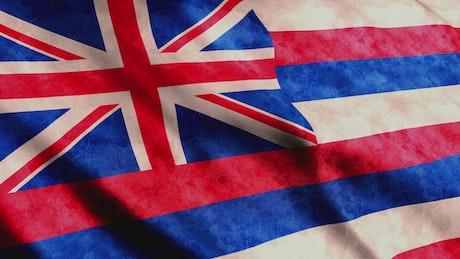 Hawaii State Flag waving