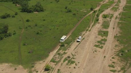 Heading across Mali by car