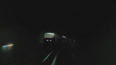 Heading down a dark tunnel