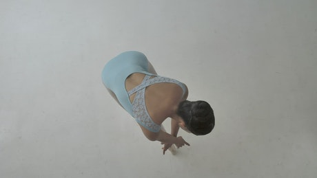 High angle shot of a ballet dancer